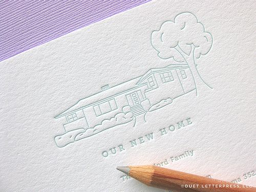 love this pale tone colored ink, from DUET letterpress