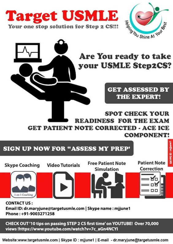 Pin by Target USMLE on USMLE - 7 Easy Steps 2 CS Online Video - patient note