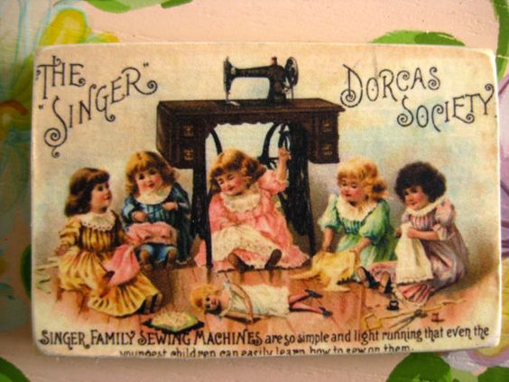 Wood Fridge Magnet Sewing Machine Ad by sassysadielee on Etsy, $4.00