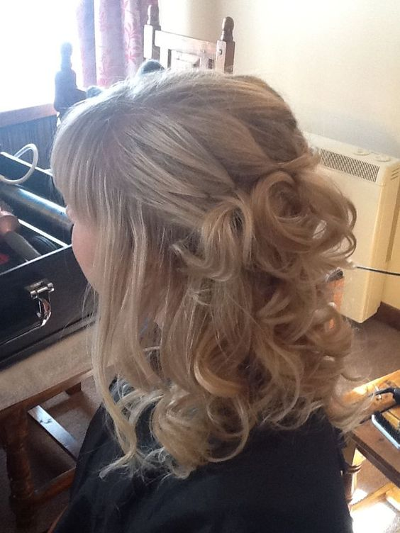 bridal hair with full fringe - Google Search