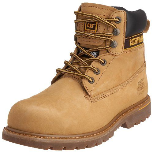 Caterpillar CAT Footwear Holton, Mens Work and Safety Boots, Honey ...