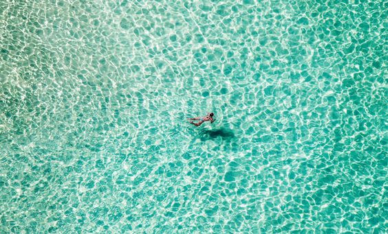 Bondi Beach captured by Eugene Tan in 'Lone Swimmer'