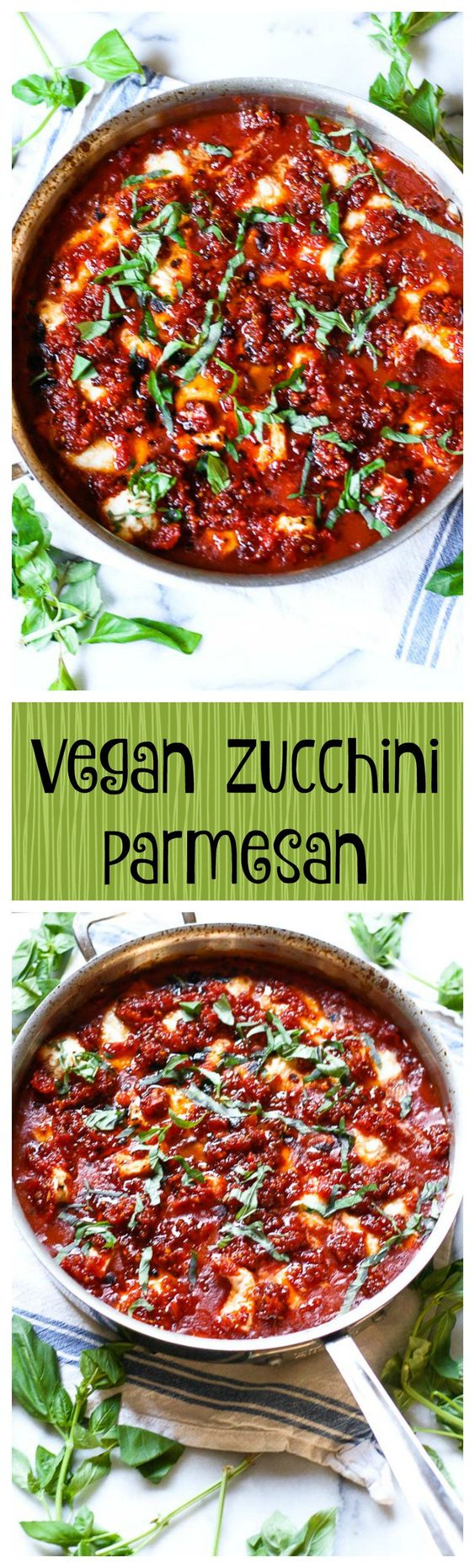 vegan skillet zucchini parmesan