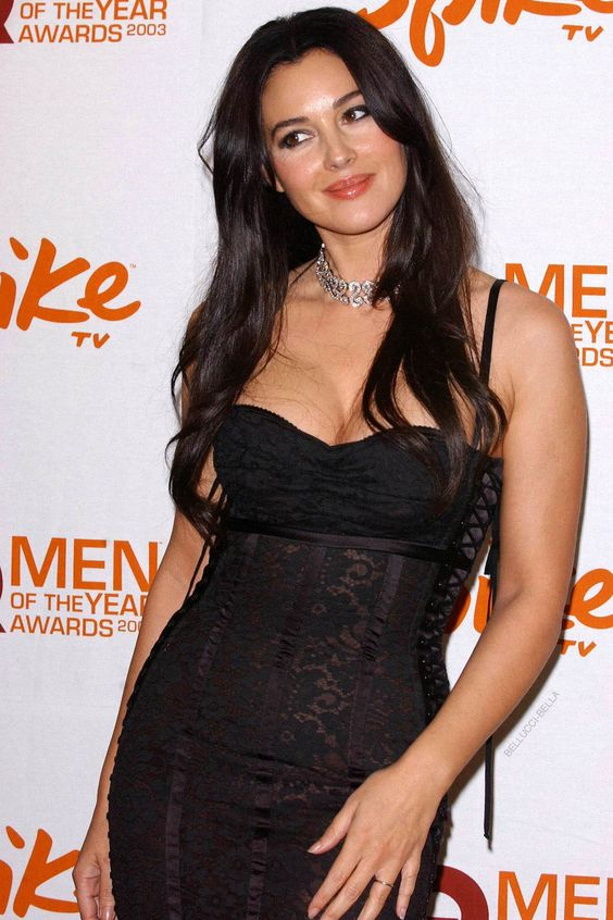 Monica Bellucci attends the Spike TV Presents the 2003 GQ Men of the Year Awards