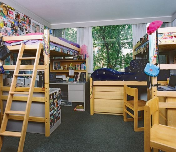 Triple dorm room layout ideas google search dorm ideas for Room configuration ideas
