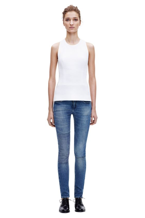Round neck shell from SS 14 Denim collection. Victoria Beckham. #BoFCareers