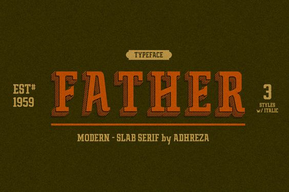 Check out Father Typeface by Adhreza on Creative Market