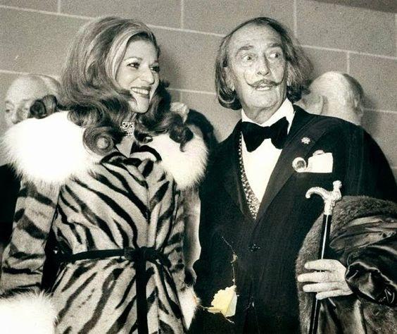 Baroness Marie Helene de Rothschild and Salvador Dali