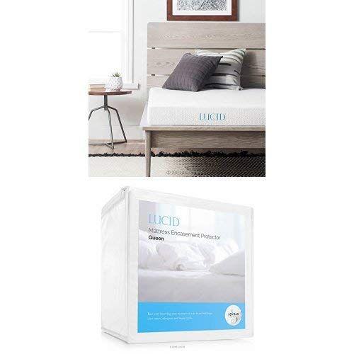 Lucid 5 Inch Gel Memory Foam Mattress Dual Layered Certipur Us