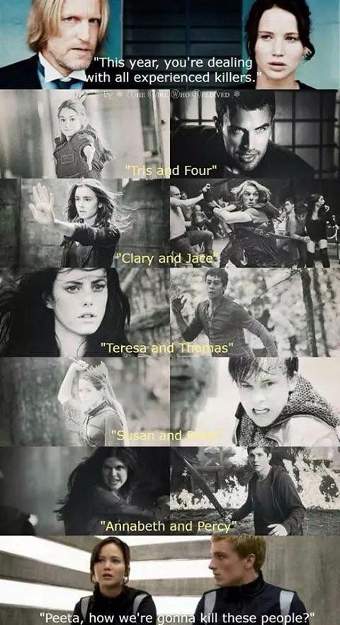 Its quite simple really... you won't. The shadow hunters and demigods and divergent will kill first. Jace will probably win