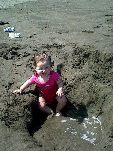sweet-baby primer día de playa