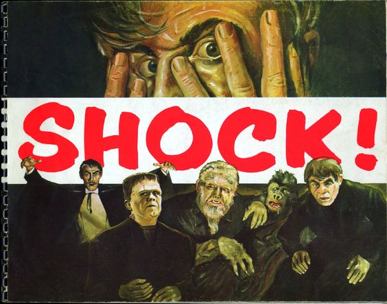 Cover from promotional booklet for Screen Gems' 1958 Shock! film package for TV.