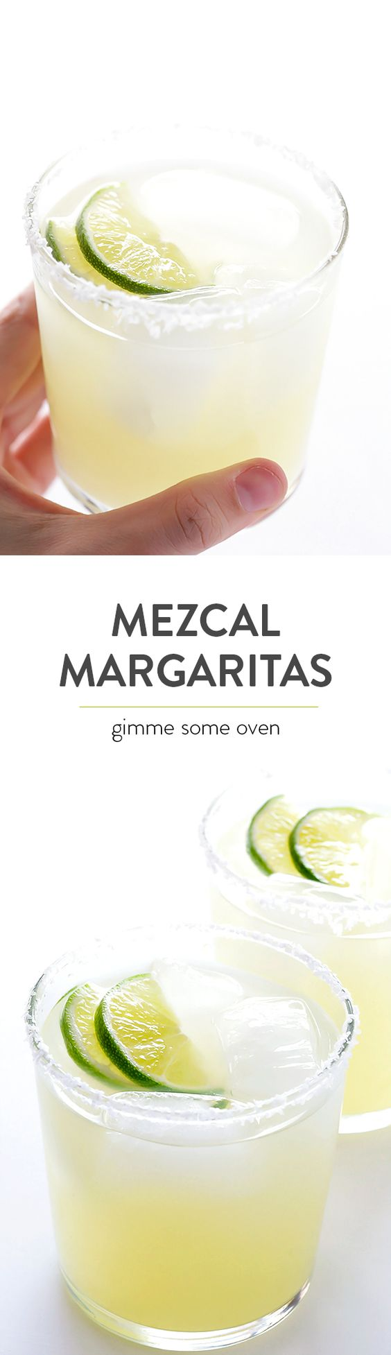 Mezcal Margaritas -- kick your margs up a notch with some smoky mezcal ...