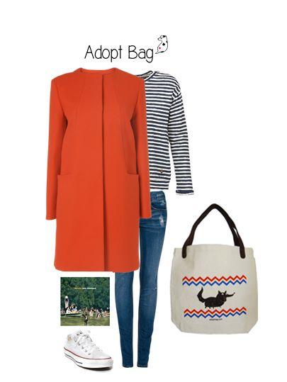 look para domingo; casaco vermelho e mala zig zag; malas que ajudam animais