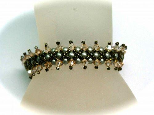 Reversible Crystal and Pearl Bracelet $10.00