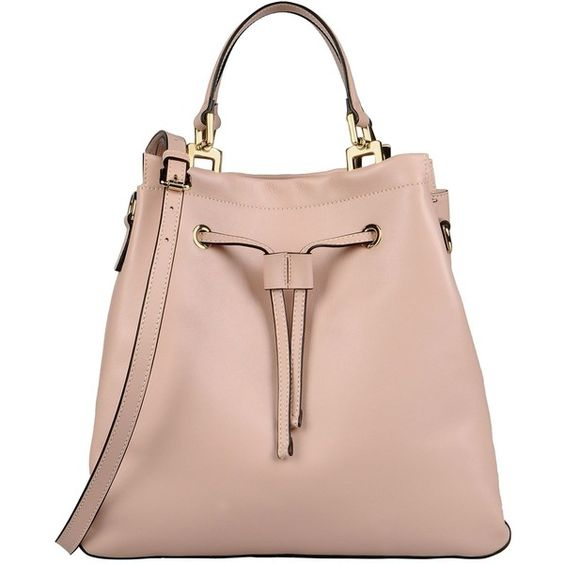 Carlo Pazolini Handbag ($545) ❤ liked on Polyvore featuring bags, handbags, shoulder bags, pink, handbags shoulder bags, leather shoulder bag, leather handbags, genuine leather handbags and pink shoulder bag