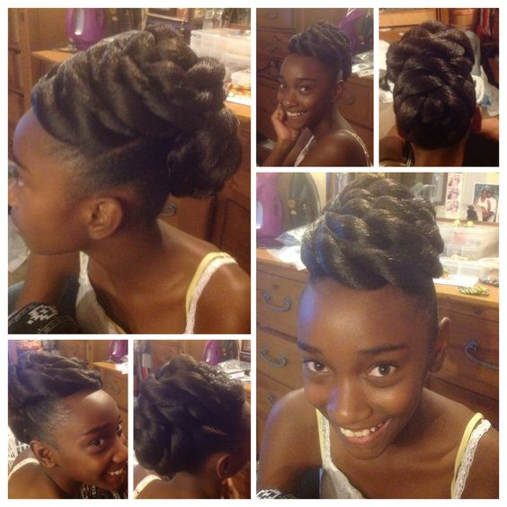 Twist bun looking good on my beauty!
