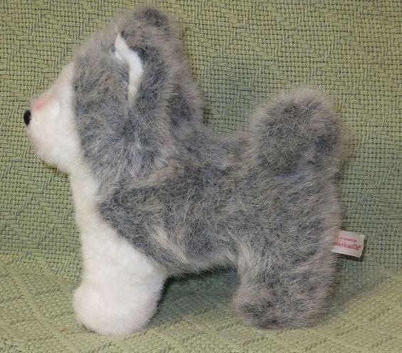 "American Girl HUSKY Dog Puppy Pepper AG 6"" Tall Grey White Huskie Doll Pet Toy #AmericanGirl #plush"