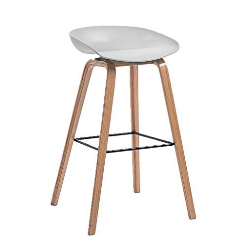 Barstools Wooden Breakfast Chair Bar Stool High Stool And Round Pp Seat Kitchen Breakfast Counter Greenhouse Cafe Bar Wei Bar Stools Wood Bar Stools High Stool
