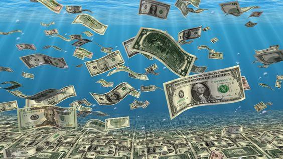 Falling Money Sea Bottom wallpapers
