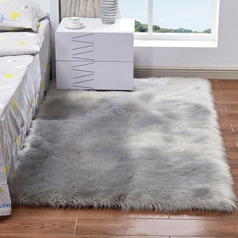 Faux Wool Leather Sofa Carpet Mat Bedroom Long Blanket Plush Carpet Rugs On Carpet Living Room Carpet