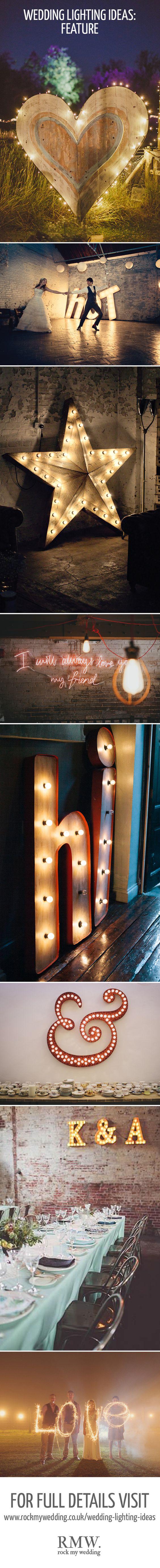 Feature Lighting At Weddings   http://www.rockmywedding.co.uk/gorgeous-lighting-ideas-wedding-day/