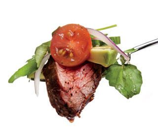 Sriracha Honey Steak Salad. Sounds delicious!