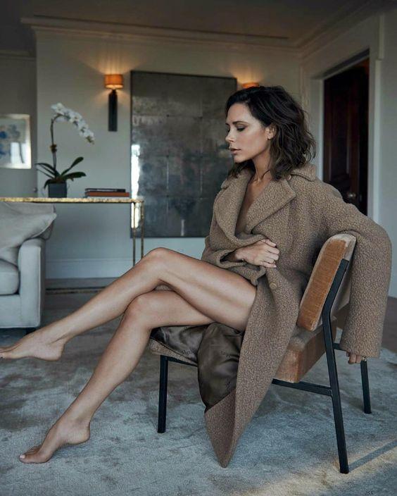 Victoria Beckham in a #maxmara coat | Vogue UK, October 2016 |