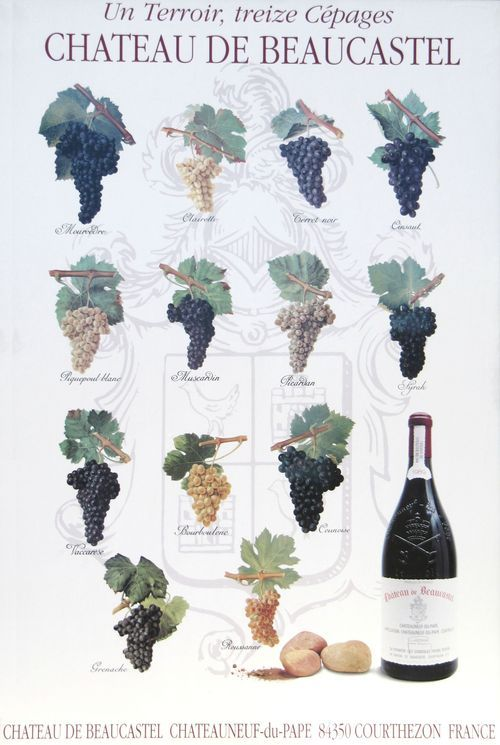 13 Cepages Poster (13 Grapes)