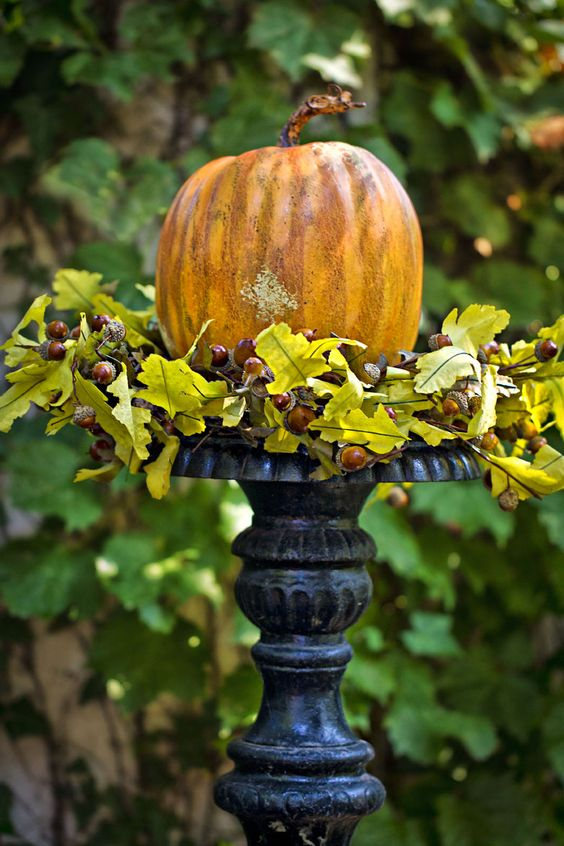 .pumpkin on urn
