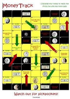 Down Under Teacher: Freebie US Money Snakes and Ladders games