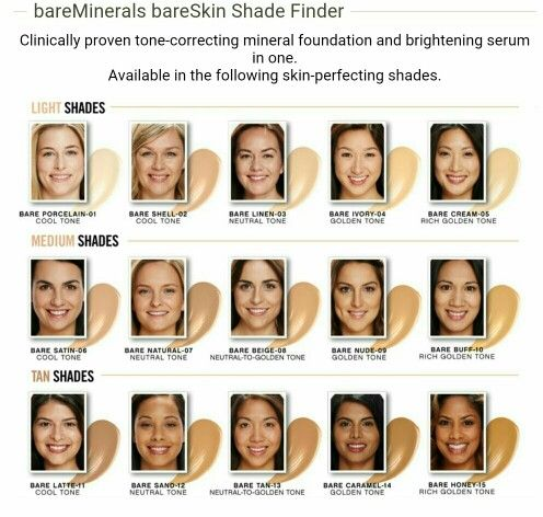 Cool Tones Bare Minerals And Light Shades On Pinterest