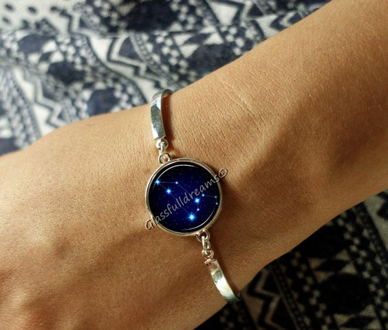 Handmade, Leo constellation bracelet.  Its name is Latin for lion, and to the…