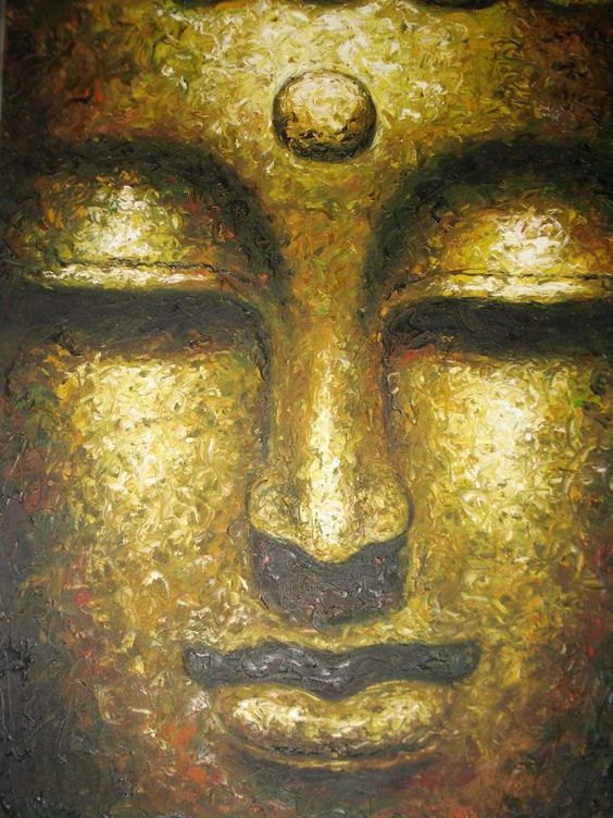 Amazing meditation buddha oil painting on canvas buddha for Buddha mural paintings