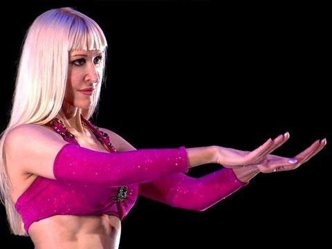 ONE OF MY DANCE GOALS IS FLUID ISOLATION LIKE ONE OF THE 18 YEAR OLD HIP HOP COACHES I WORK WITH. I DREAM OF POPPING AND LOCKING AND STROBING AND WAVING...BUT IN A WHITE GURL BELLYDANCER KINDA WAY...Belly Dance How to: Hand Undulation / Wave / Ripple Move - Belly Dancing - with Neon