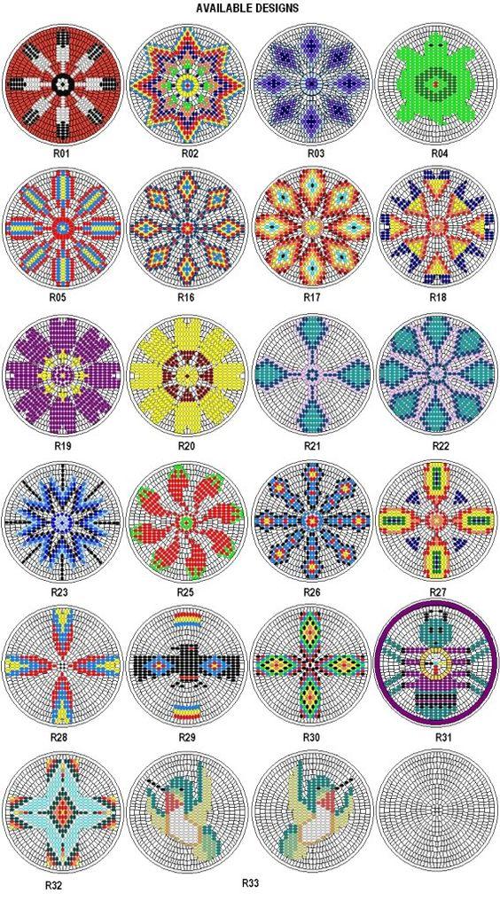 native american rosettes patterns | Rosette Kit Fabric Native American Designs to Make 2 5 Dia 4 | eBay