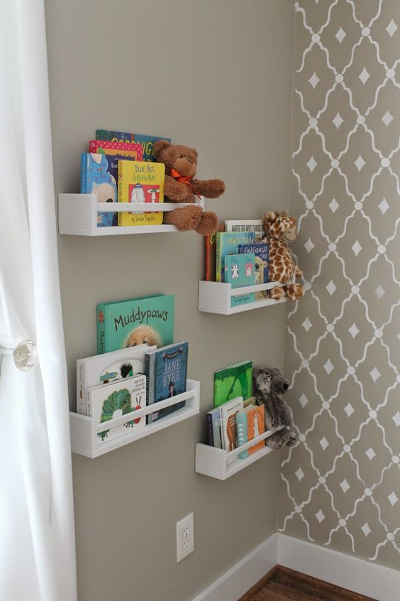 1000+ ideas about Nursery Bookshelf on Pinterest   Nurseries, Orange Nursery and Project Nursery