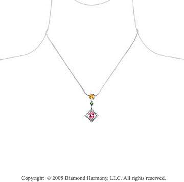 Rainbow drop necklace