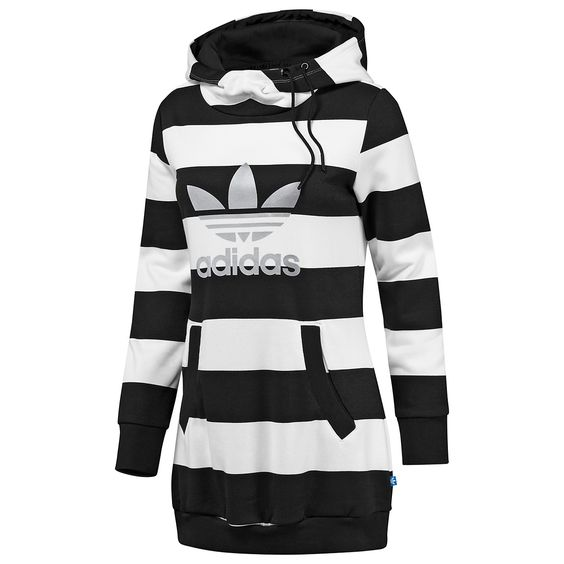 Adidas Originals, Women's Long Striped Hoodie - SportingLife Onli