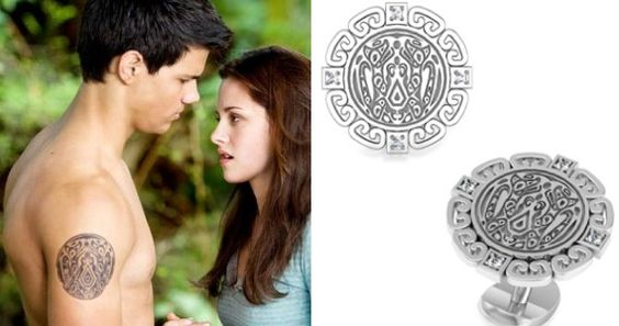 Twilight wolf tattoo symbol jewelry available from bed for Twilight jacob tattoo temporary