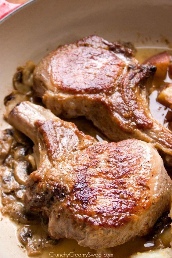 Braised pork chops, Braised pork and Garlic red potatoes on Pinterest