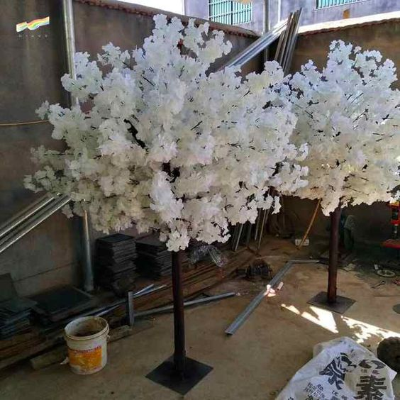 Source Artificial White Cherry Blossom Tree Small Wedding Centerpiece Trees For Sell Decoration Wh Cherry Blossom Centerpiece Cherry Blossom Tree Blossom Trees