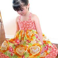 Shirred Twirly Dress