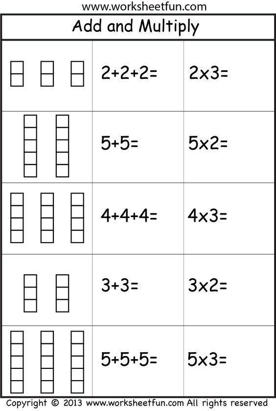 Addition Worksheets Repeated Addition Worksheets Pdf Preschool – Repeated Addition Worksheets
