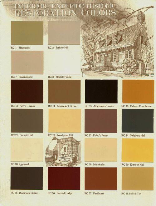 Historic Color Chart Colors Inspiring Colors Pinterest Paint Colors Paint Color Chart