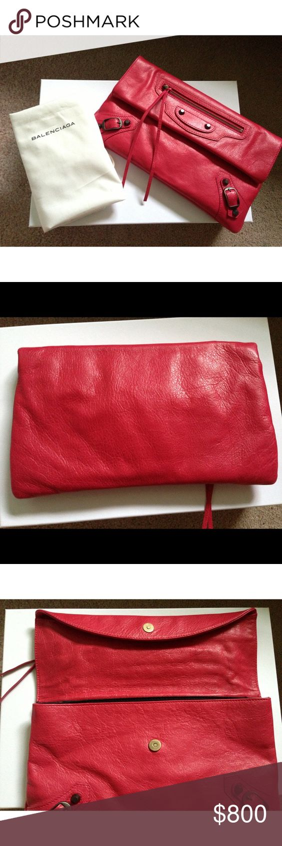 Balenciaga Classic Envelope in Rose Thulian Purchased on May 28 2012 at South Coast Plaza Includes dust bag and box. Gently used. Balenciaga Bags Clutches & Wristlets