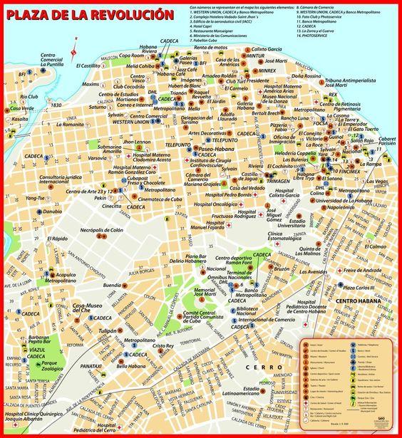 Plano La Habana 2011 (plaza de la Revolución) | Cuba ...