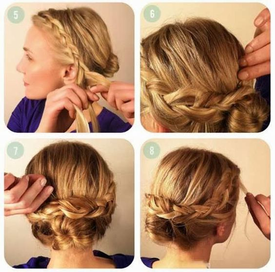 Tremendous Braided Hairstyles Hairstyles And Diy And Crafts On Pinterest Short Hairstyles Gunalazisus