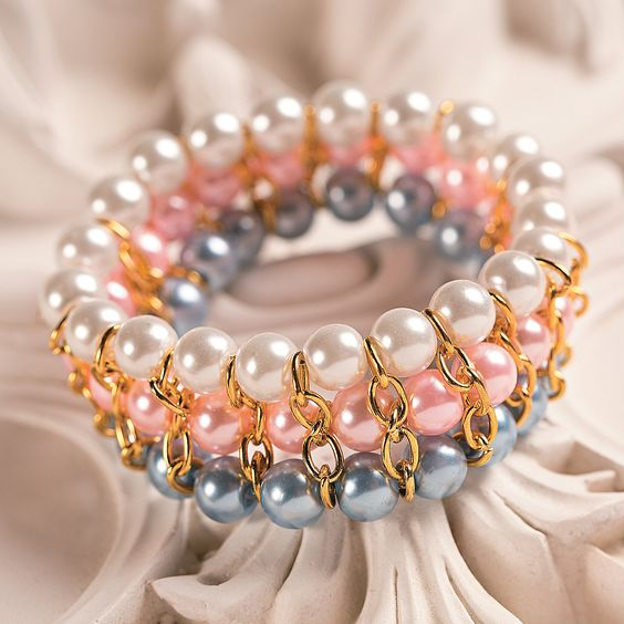 DIY Chain & Pearl Bracelet Idea - OrientalTrading.com: