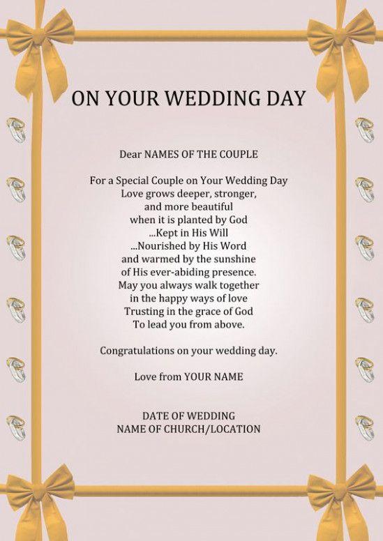 Wedding Day Poems For Bride Wedding Humor Wedding Poems For Friends Wedding Poems
